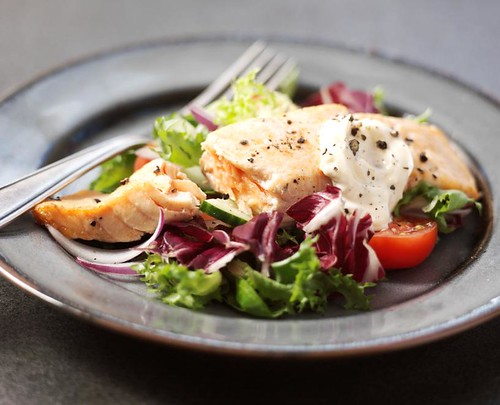 Salmon salad | by BoothsCountry