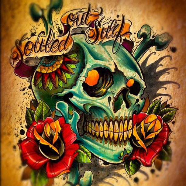 finished logo surf tattoo logo design sos willem xsm flickr. Black Bedroom Furniture Sets. Home Design Ideas