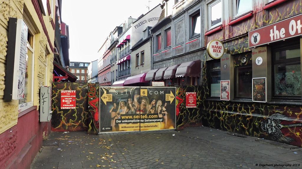 Hamburg ~ St. Pauli, Herbertstrasse   Entrance to