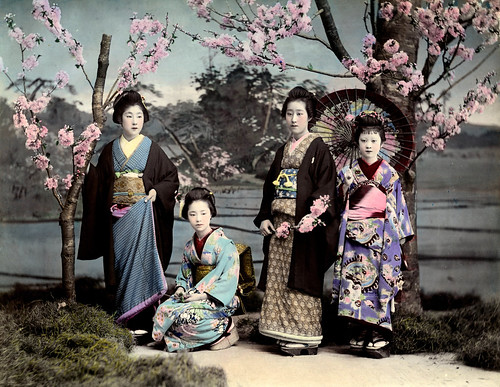 Ponta and O-Yen with two Hangyoku 1890s | by Blue Ruin 1