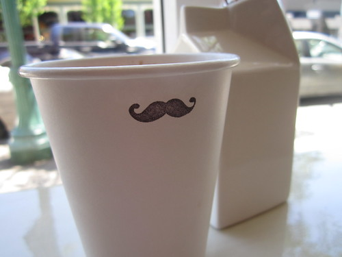 Mustache coffee | by Quirky Knit Girl