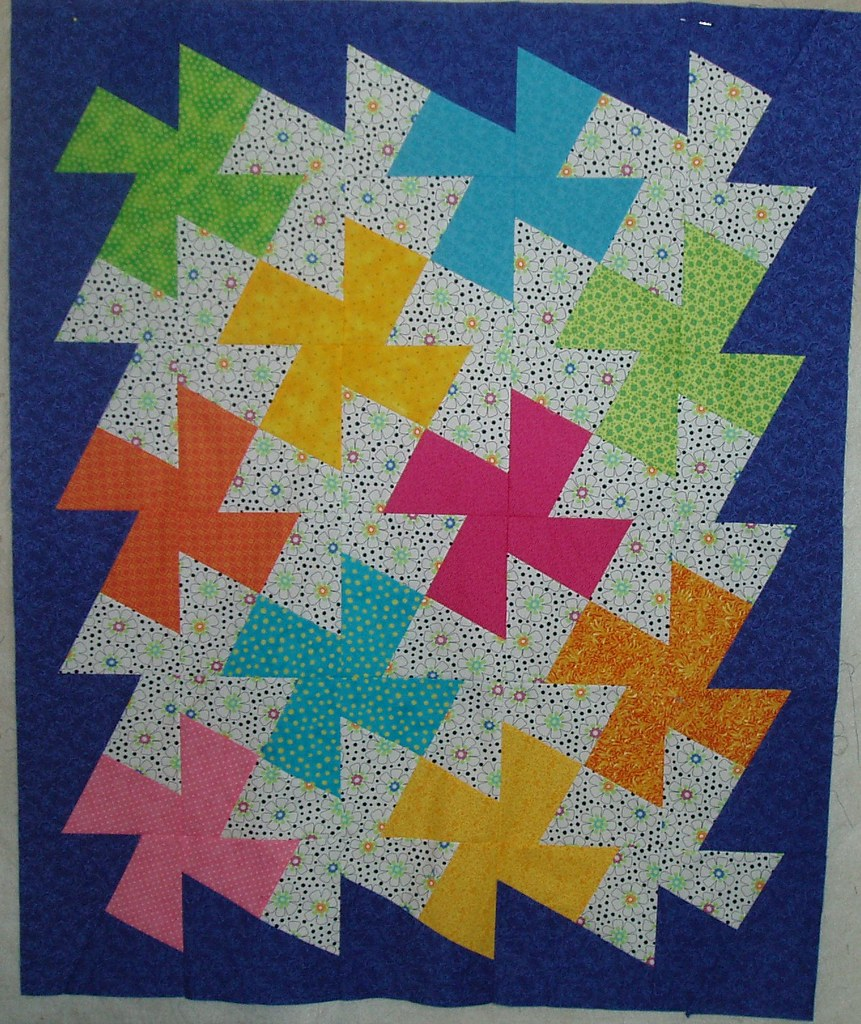 Free Twisted Pinwheel Quilt Pattern : Twister Quilt The second top of three I made for our group? Flickr
