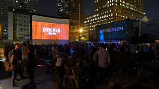 1st Bike-In Movie at Dekalb Market | by Kimberly C. Lee
