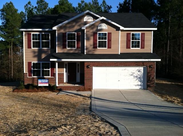 Red Door Homes Floor Plans: Westover B Elevation Partial Brick