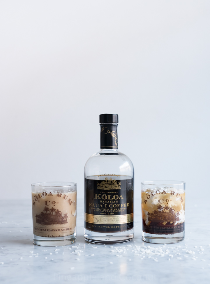 Hawaiian White Russian Cocktail www.pineappleandcoconut.com #KoloaRum
