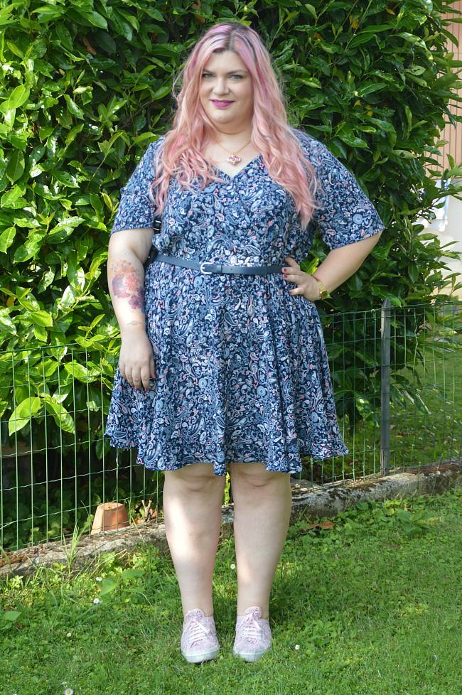 Outfit floreale blu e rosa (6)