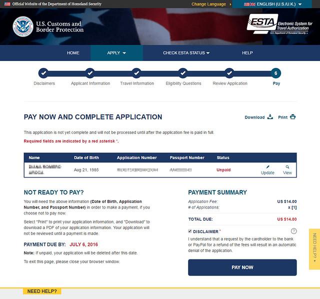 Precio del visado ESTA para ir a Estados Unidos
