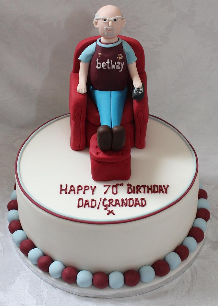 Armchair West Ham Fan Birthday Cake Pauls Creative