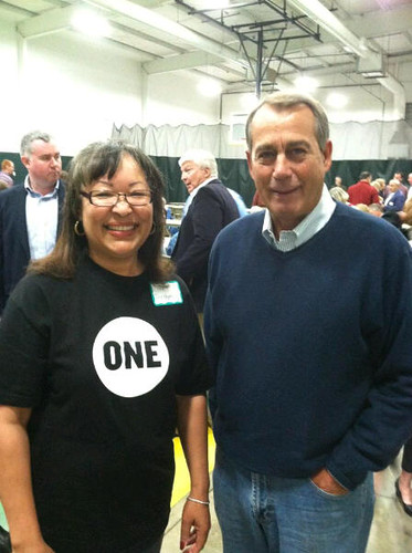 Dora Bronston with Speaker Boehner | by ONE.org