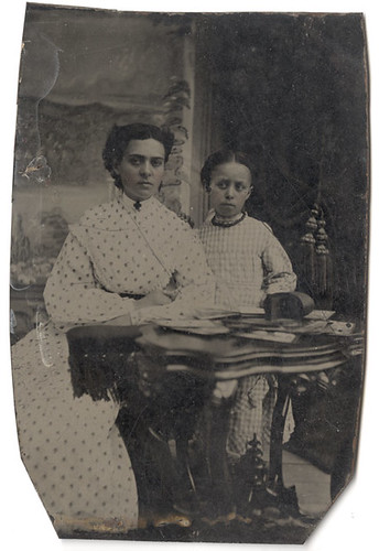 Tintype of Mother and Daughter with Stereo Viewer and Stereo Cards | by Photo_History - Here but not Happy