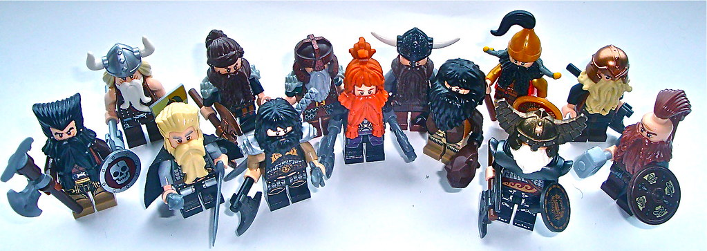 dwarves from the hobbit | there are 11 lego beard variants c? | flickr - Hobbit Dwarves Coloring Pages
