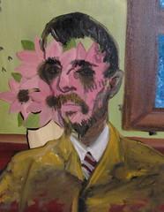Frank Justin Gonski Art man with flower eyes