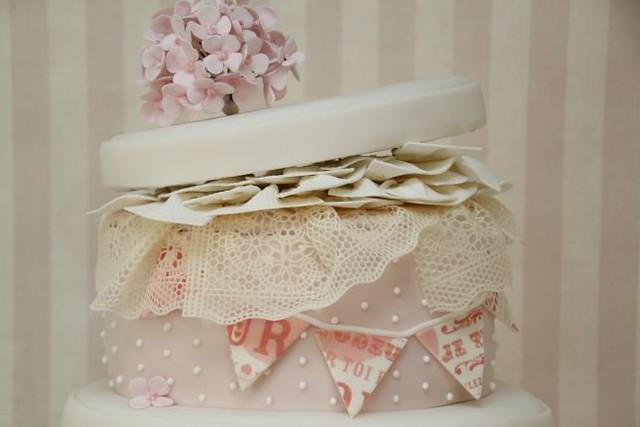 Hochzeitstorte Vintage Hutschachteln shabby chic rosa.hortensien ...