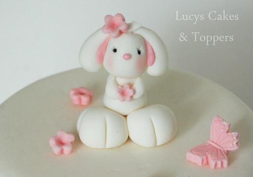 Bunny Rabbit Edible Cake Topper Christening Or 1st