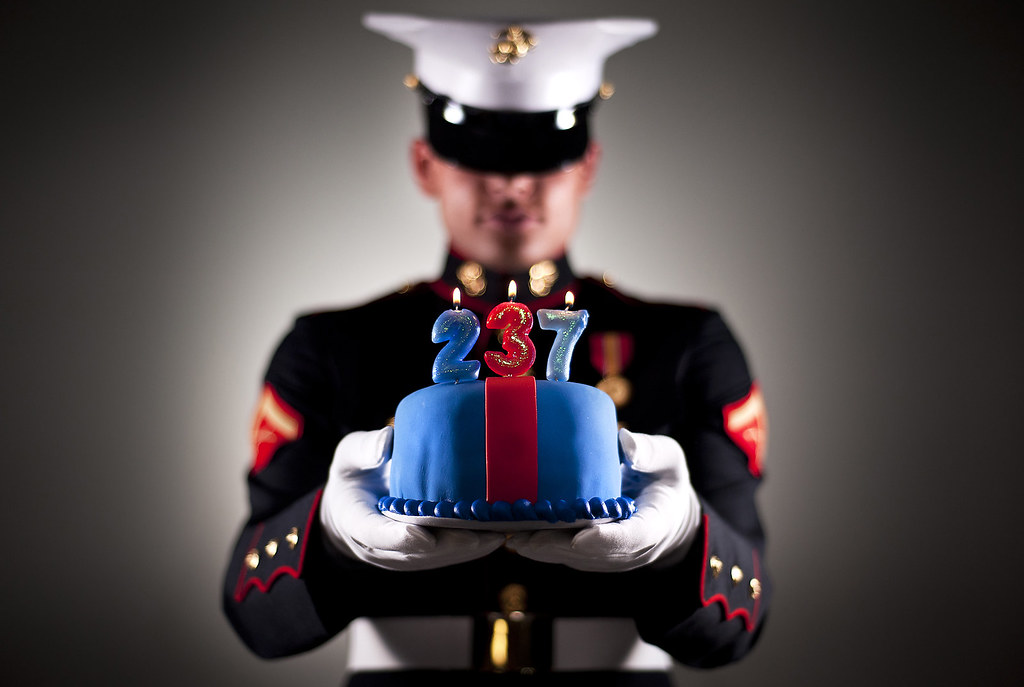 Happy 237th Birthday Lance Cpl Donovan Lee Holds A