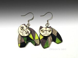 cats earrings | by Orson's World