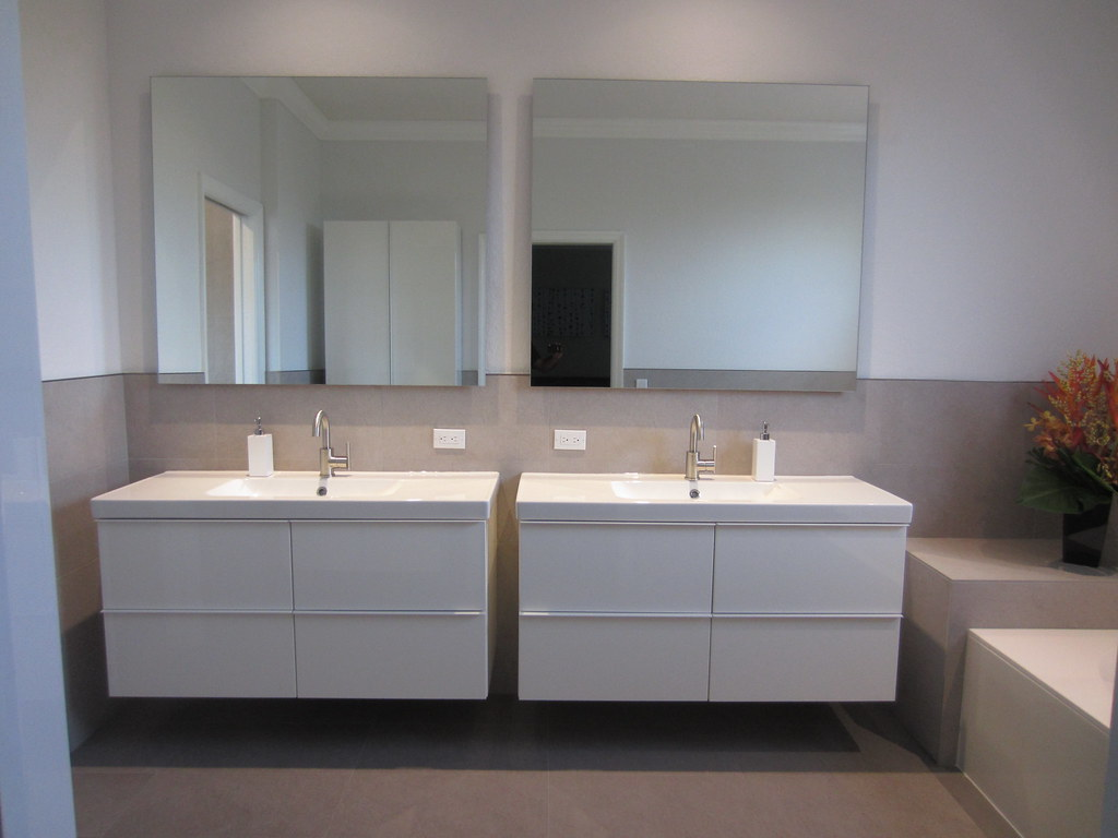 vanity ikea godmorgon vanity dual floating mirrors spahn22 flickr - Ikea Bathroom Vanity