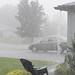 Rain -- no downspouts