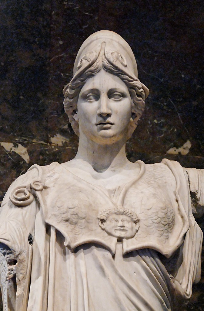 Athena Of The Hope Farnese Type Marble Roman Copy From T