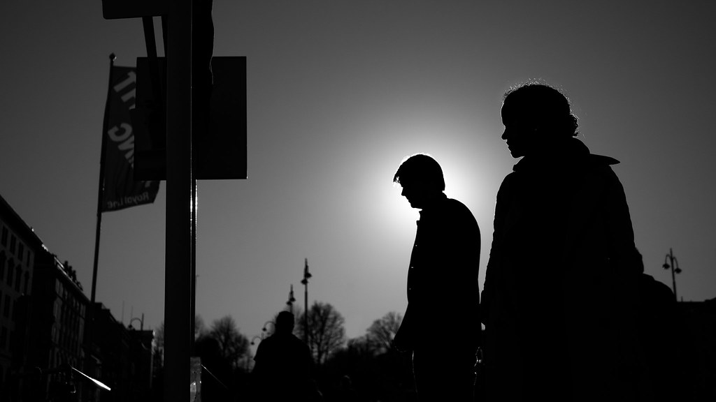 Man And Woman In Backlight - Helsinki, Finland - Black And  Flickr-9116