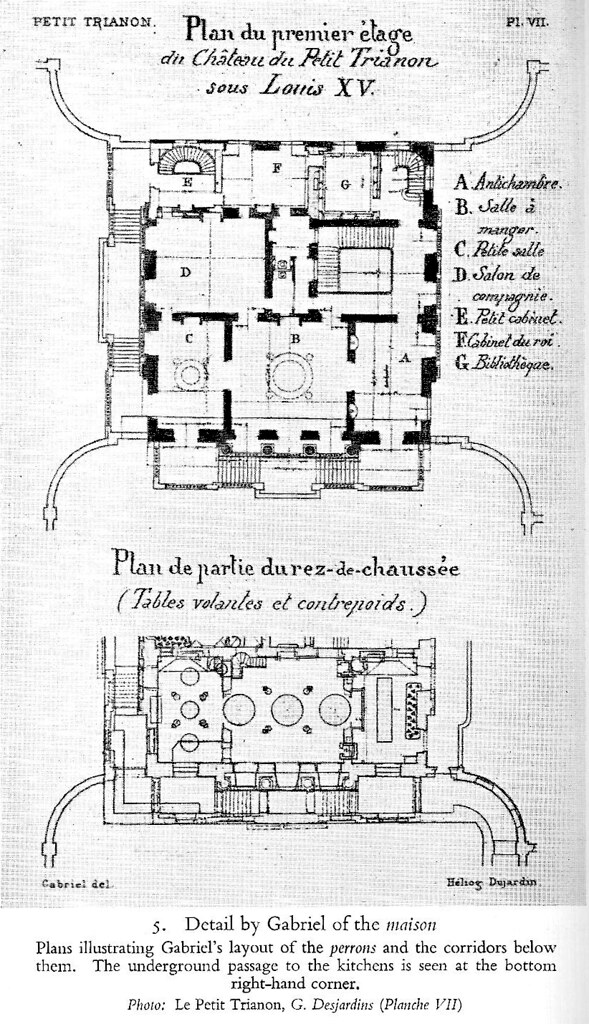 Petit trianon original ground and basement plans shows for Plan trianon salle