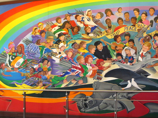 Photos from denver airport murals pictures to pin on for Denver mural airport