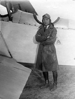Charlie Guegil (sp), Chinese Captain, with plane | by San Diego Air & Space Museum Archives
