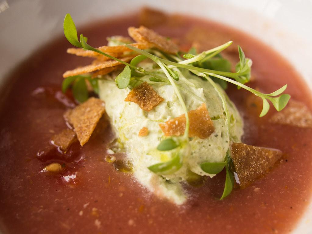 DBA - Chilled soup | heirloom tomato soup, basil, balsamic ...