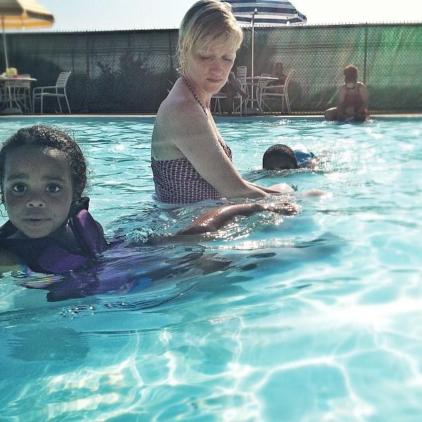 Swim Anyone? #water #girl #baby #pool #summer #instagram