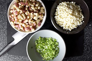 potatoes, corn, scallions, ready to go | by smitten kitchen