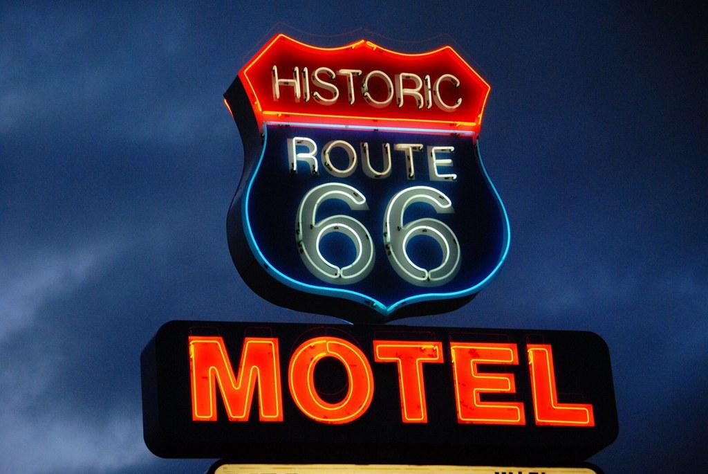 Route 66 Motel Sign  08   Seligman  Arizona