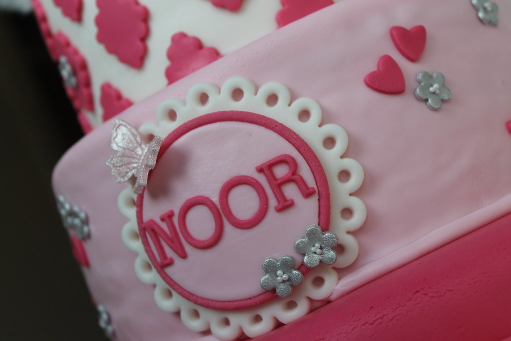 Images Of Birthday Cake With Name Simran : Girly birthday cake  NOOR  Party Baking Flickr