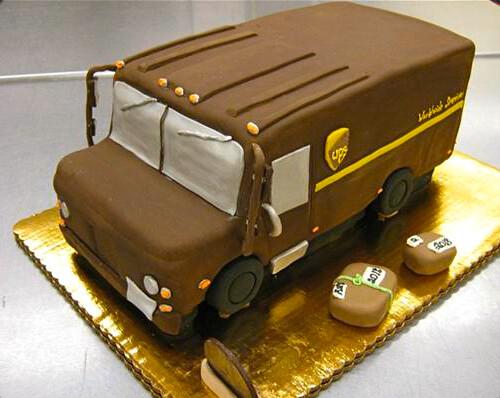 Ups Truck Cake