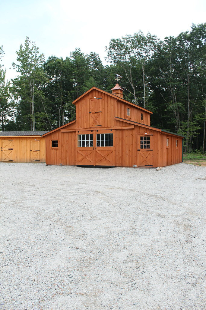 Monitor Style Horse Barn Hill View Mini Barns Flickr