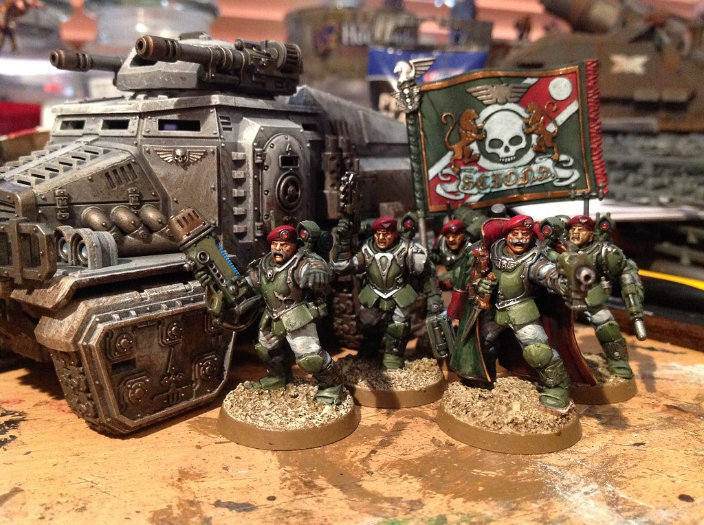 Militarum Tempestus Command Squad And Taurox Jon Law