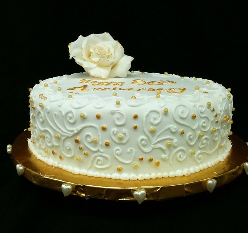 Simple 50th Anniversary Cake Flickr Photo Sharing