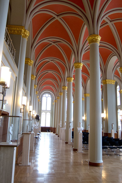 Interior Columns At The Rotes Rathaus In Berlin By