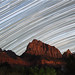 Star Trails Over Watchman in Zion