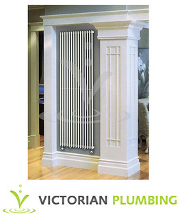 Quinn Adagio Single Column Radiator - Vertical - White - 10 x Size Options | by Victorian Plumbing