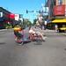Recumbent bike rickshaw at Clark and Diversey