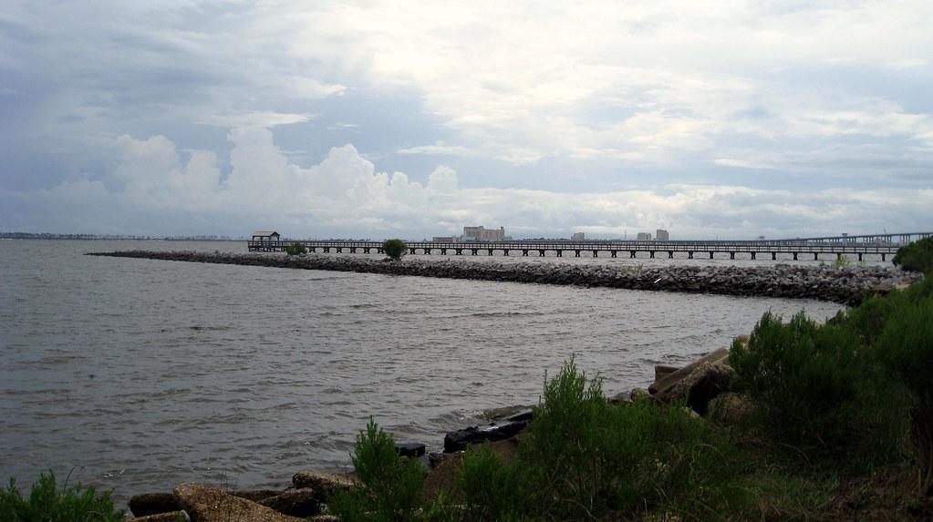 Ocean springs fishing pier view of biloxi casinos flickr for Ocean view fishing pier