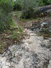 Balise n°2 du sentier de Costa di Barola (flèche gauche effacée)