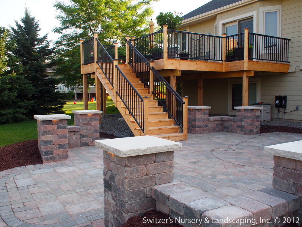Deck & Patio ~ MN Backyard Ideas | Custom Designed ... on Patio With Deck Ideas id=85019
