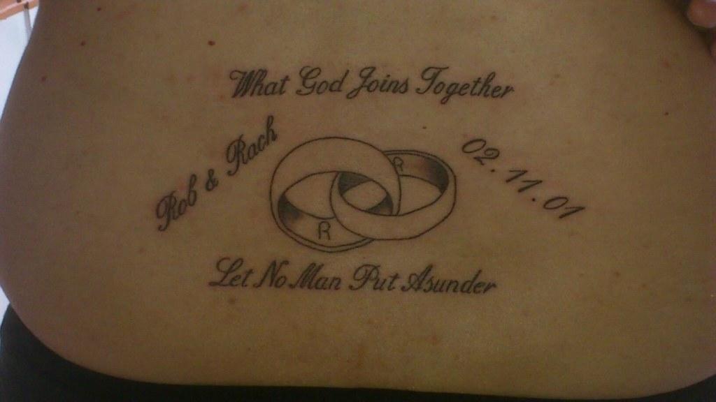 My Tattoo To Mark My Tenth Wedding Anniversary Rachel