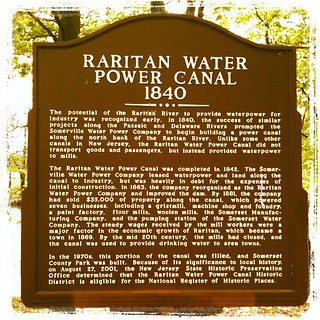Raritan power canal is a historic site? Hm. #nhs #historicmarker #nationalhistoricsite | by bpende