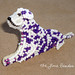 PURPLE DALMATIAN beaded fire dog wearable art pin / brooch