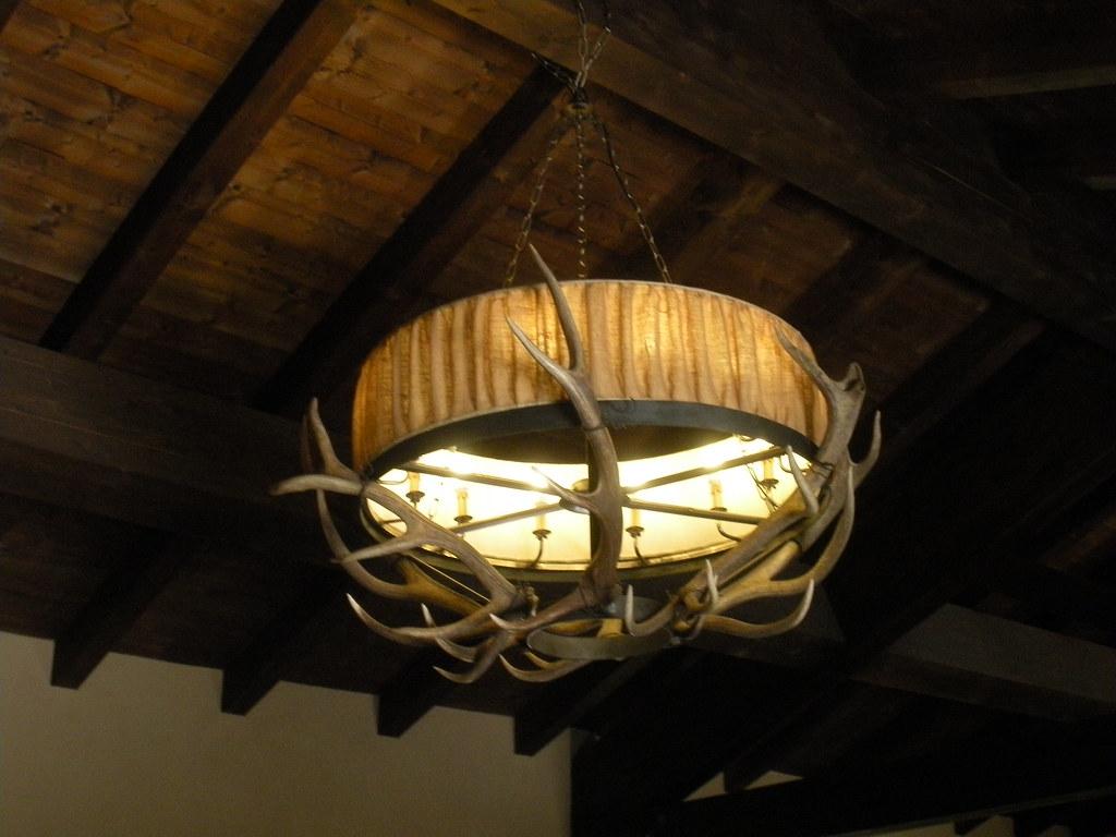 Lampadario con corna di cervo 2 chandelier with horns of for Corna cervo