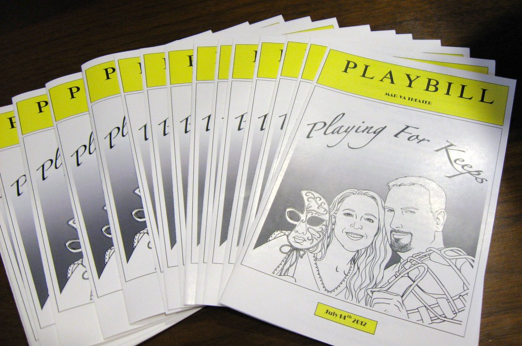 broadway playbill wedding programs personalize playbill