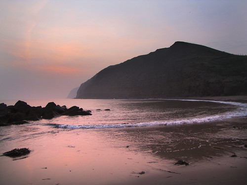 Misty sunrise a Skinningrove. | by paul downing