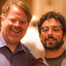 Robert Scoble and Google Co-Founder Sergey Brin at Last Night's Dinner in the Dark in San Francisco